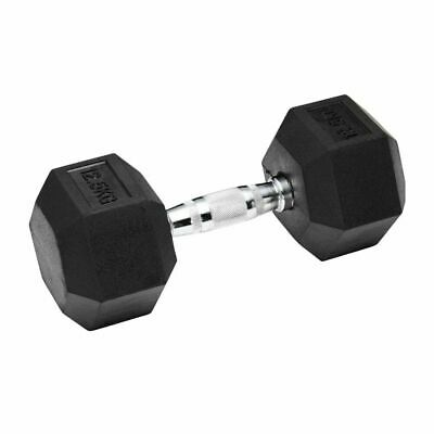 AU61.59 • Buy Verpeak Rubber Hex Dumbbells 12.5kg Weight Lifting Fitness Home Gym Sports