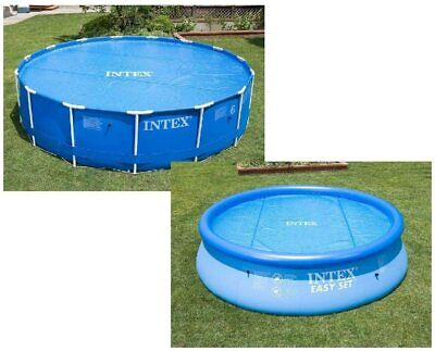 £21.95 • Buy INTEX SWIMMING POOL Solar Cover 10FT, Heats Water, Keeps Clean, Debris Out