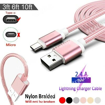 AU1.99 • Buy 1/2/3M Braided USB Charging Phone Cable Data Cord Charger Samsung Huawei XiaoMi