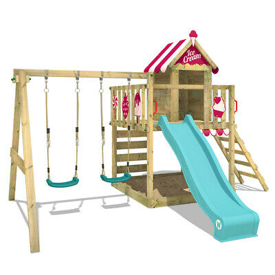 £599.95 • Buy WICKEY Climbing Frame Smart Candy Garden Wooden Playground With Swing And Slide