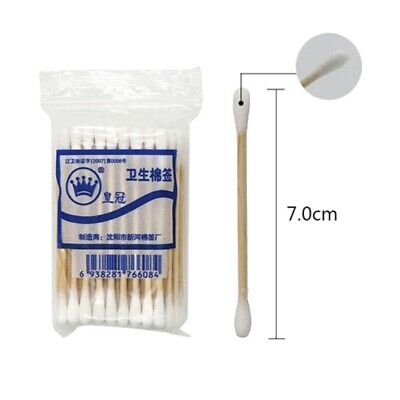 60Pcs Cotton Swabs Wooden Handle Sticks 3  Q-Tips Medical Use Supply 2021 UK • 4.79£