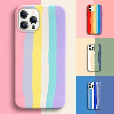 AU9.99 • Buy For IPhone 13 12 Pro Max 11 XR SE XS MAX Shockproof Silicone Rainbow Case Cover