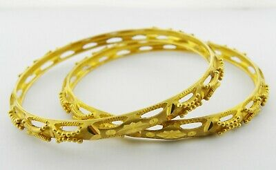 £1990 • Buy 22ct Gold Bangles (Pair) With No Stone