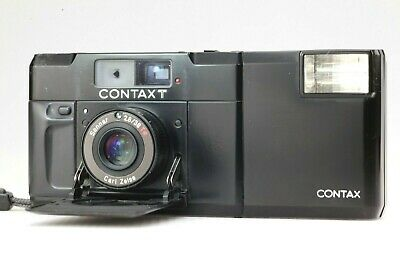 $ CDN799.75 • Buy 【EXC+++++】 CONTAX T Black Rangefinder 35mm Film Camera W/ T14 Auto Flash From JP