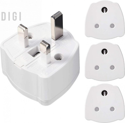 AU26.29 • Buy 2 Pieces India To UK Travel Tourist Adaptor Converter Mains Plug, 5 Amp Fuse