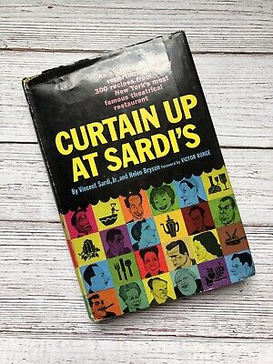 £39.53 • Buy Vintage Curtain Up At Sardi's Cookbook 1957 1950's Housewife Recipes 1st Print
