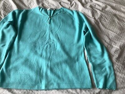 $ CDN8.64 • Buy Ladies Debbie Morgan Turquoise Jumper Size M/ L Pink Exc Cond
