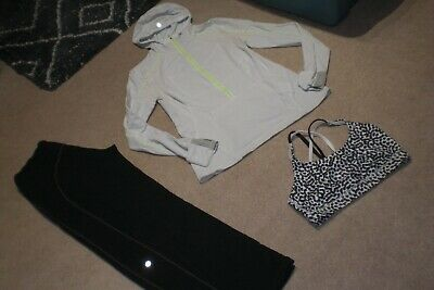 $ CDN89 • Buy Lot Of Lululemon Still Pants, Half Zip Pullover Hoodie And Bra Sz 12