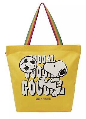 £15 • Buy Levi's®  Snoopy Sport Goal Tote Bag Yellow Colour New With Tags