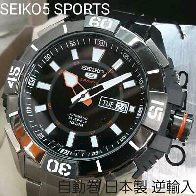 $ CDN875.99 • Buy SEIKO 5 SPORTS SRP795J1 Day-Date Automatic Black Dial Watch NEW