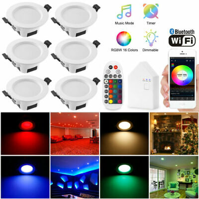 AU14.65 • Buy LED Downlights Recesed Wi-Fi Bluetooth 9W 5W Downlight Dimmable 2700K-6000K+RGB