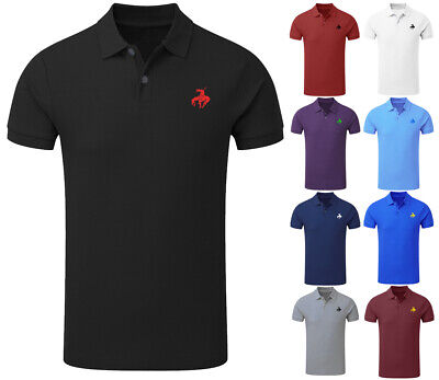 £5.99 • Buy NEW Mens Designer Polo Neck Shirt Native American Horse Embroidered Top S-5XL