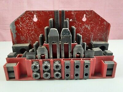 $64.99 • Buy Machinist Hold Down Clamp Set 5/8  T Slot Nut 1/2 X 13 Threaded Studs & Case