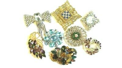 $ CDN12.52 • Buy Lot Of 8 Pieces Of Vintage Costume Pin Jewelry, Wearable, Unsigned