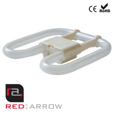 £4.49 • Buy Red Arrow 2D 4 Pin 16W Compact Fluorescent Energy Saving Bulb Warm White Lamp