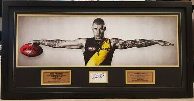 AU325 • Buy Dustin Martin - RICHMOND TIGERS FACIMILE SIGNED WINGS FRAME - AWESOME!!!