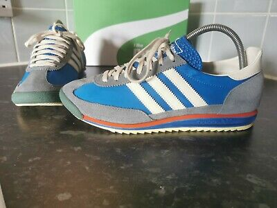 AU53.57 • Buy Adidas Originals SL72 Vintage Trainers Size 8 In Blue,White And Grey