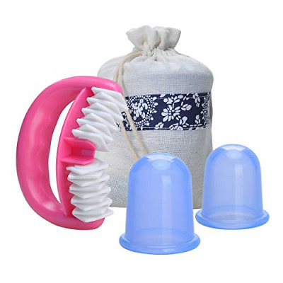 Aogbithy Anti Cellulite Silicone Cup And Massager Roller Set, Body Massager Skin • 11.67£