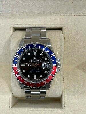 $ CDN17180.44 • Buy Rolex 16710 GMT Master II Pepsi Red And Blue Stainless Steel NO HOLES