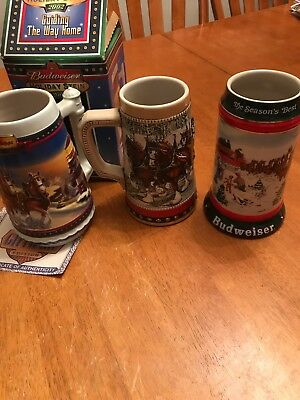 $ CDN18.75 • Buy Budweiser Holiday Stein Lot 2002, 1988 And 1991