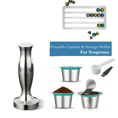 AU28.99 • Buy Coffee Pods Capsule Cup Refillable For Nespresso Reusable Stainless Steel Filter