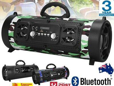 AU32.91 • Buy Outdoor Portable Wireless Bluetooth Speakers Stereo Bass USB   Radio   Subwoofer