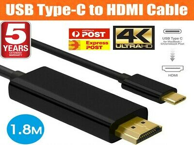 AU11.81 • Buy USB C To HDMI Cable USB 3.1 Type C Male To HDMI Male 4K Cable Macbook Chromebook