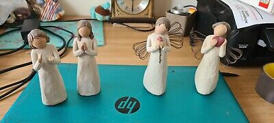 £22 • Buy Joblot 3 + 1 Willow Tree Figures 5   Loving Angel Angel Of The Heart Sisters By