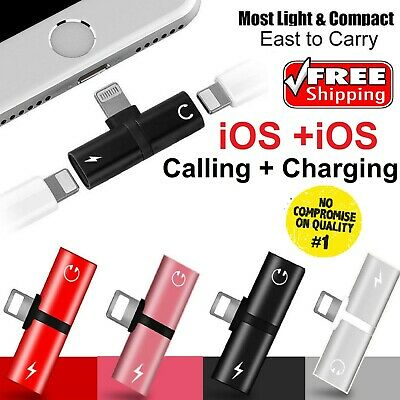 £3.69 • Buy Dual IPhone 12 11 8 7 X XS XR Headphone And Charger Adapter Jack Splitter 2 In 1