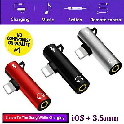 £5.39 • Buy For IPhone 12 11 8 7 X XS XR Dual Headphone Charger Adapter Jack Splitter 2 In 1