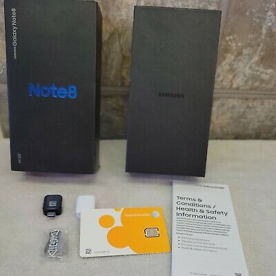 $ CDN27.37 • Buy Samsung Galaxy Note 8 OEM BOX & ACCESSORIES ONLY Orchid Gray INCLUDES SIM CARD