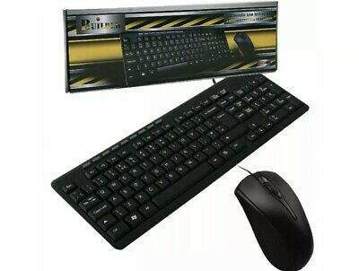 £10 • Buy Builder Wired Multimedia Keyboard And Mouse Desktop Kit USB