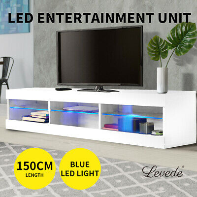 AU139.99 • Buy Levede TV Cabinet LED Entertainment Unit Storage Stand Cabinets Modern White