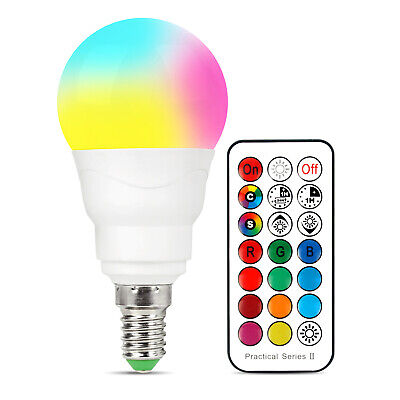 £5.99 • Buy E14 12 Colour Changing RGB LED Light Bulb Remote Control Party Disco Lamp 5W