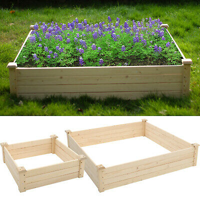 £49.95 • Buy Outdoor Wood Planting Garden Bed Elevated Planter Box Grow Vegetable/Flower/Herb