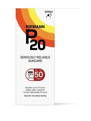 £9.49 • Buy Riemann P20 Once A Day Sun Protection Spray SPF 50 High 100ml New In Box