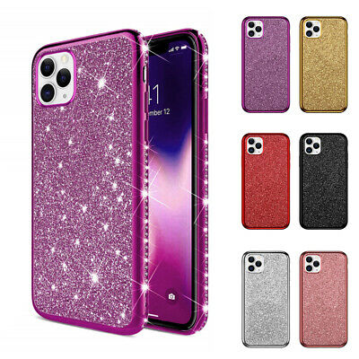 AU8.98 • Buy For IPhone 11 12 Pro Max XS XR SE 6 7 8 Plus Glitter Diamond Silicone Case Cover