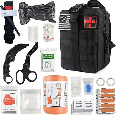 $74.50 • Buy Survival First Aid Kit Medical Emergency Military Trauma Bag Tactical IFAK Molle