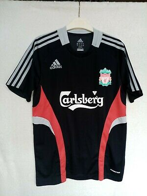 Adidas Liverpool Lfc Size Small Black Training Jersey Short Sleeve T-shirt Bnwot • 25£