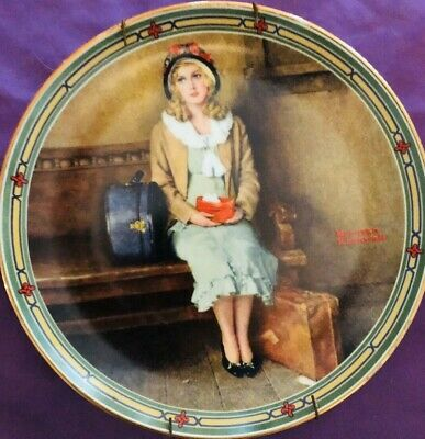 $ CDN6.24 • Buy Edwin M Knowles China Co Norman Rockwell Collector Plate  A Young Girls Dream