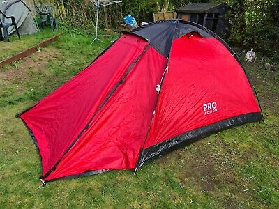 AU45.13 • Buy ProAction 4 Man Dome Tent With Porch Camping Festivals Beach Events