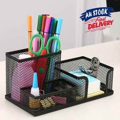 AU14.15 • Buy Pen Holder Storage Desk Organizer Office School Letter Tray Container Stationery