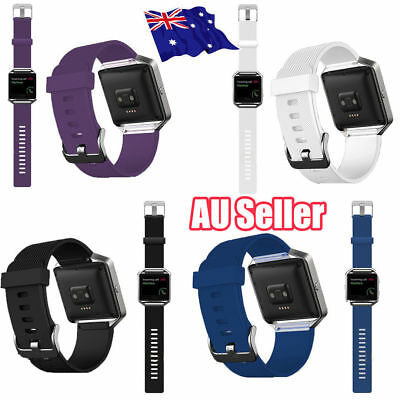 AU10.76 • Buy Replacement Silicone Gel Band Strap Bracelet Wristband For FITBIT BLAZE MN