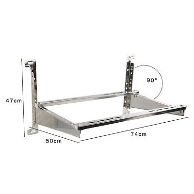 £38.02 • Buy Air Conditioner Support Bracket Wall Mount Rack 201 Stainless Steel W/Accessory