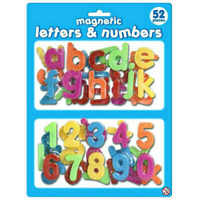 £3.49 • Buy Magnetic Plastic Letters & Numbers 52 Pieces