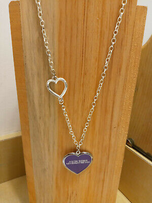 £12.73 • Buy Justin Bieber Necklace Never Say Never Heart Shaped Necklace Charm