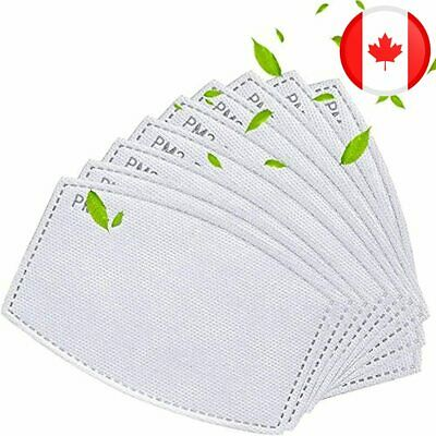 $ CDN26.97 • Buy 50 Pack Activated Carbon Filter, 5 Layers Anti Haze Dust Filters For Adult Face