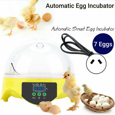 AU25.98 • Buy 7 Eggs Incubator Automatic Digital LED Turning Chicken Duck Eggs Hatcher