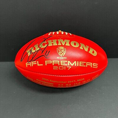 AU495 • Buy AFL RICHMOND TIGERS DUSTIN MARTIN HAND SIGNED SHERRIN AFL 2017 PREMIERS Red