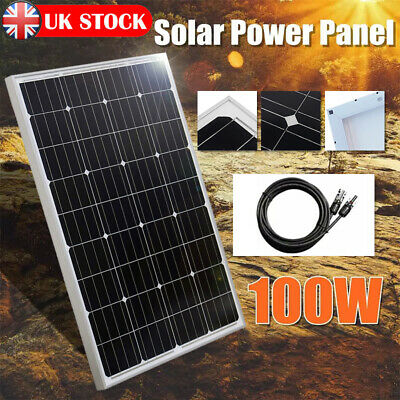 £79.99 • Buy 100W Portable Mono Solar Panel Kit 12v Battery Charger Camping Caravans